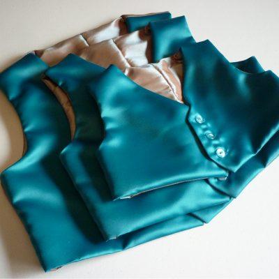 Custom made page boy's waistcoats