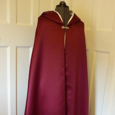 Duchess satin full-length cloak for a bride