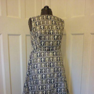 Stamp print a-line dress