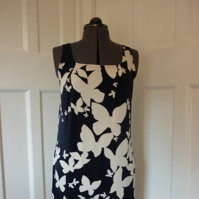 Shift dress made from butterfly print jersey