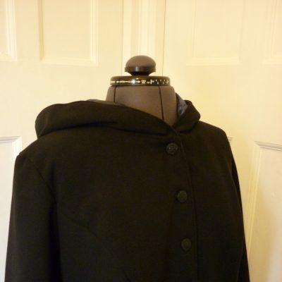 Full-length blank melton coat