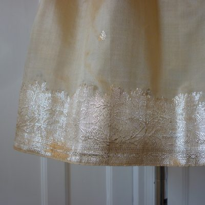 Prom dress from silk sari material