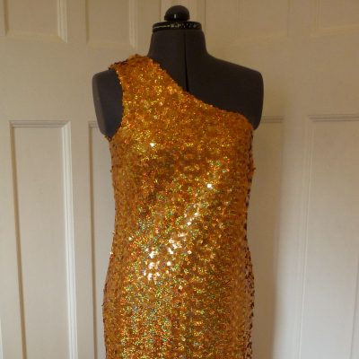 Full-length sequinned dress