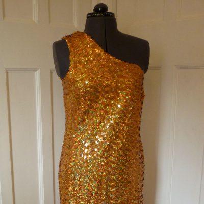 Full-length sequinned dress