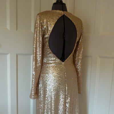 Full-length sequinned prom dress