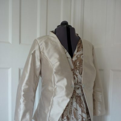Silk chiffon dress and silk jacket