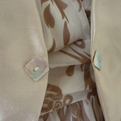 Silk chiffon dress and silk jacket