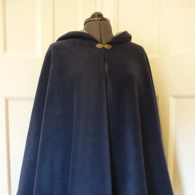 navy fleece cape
