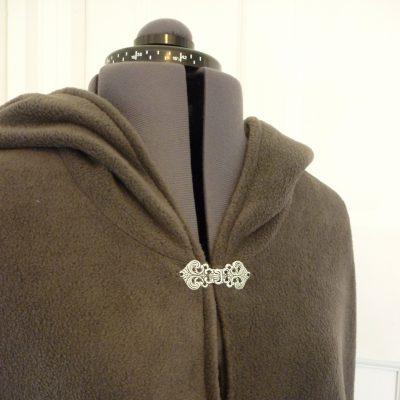 unlined charcoal fleece cloak
