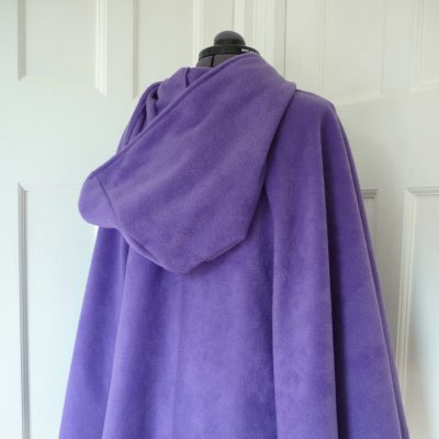 unlinedpurple fleece cape