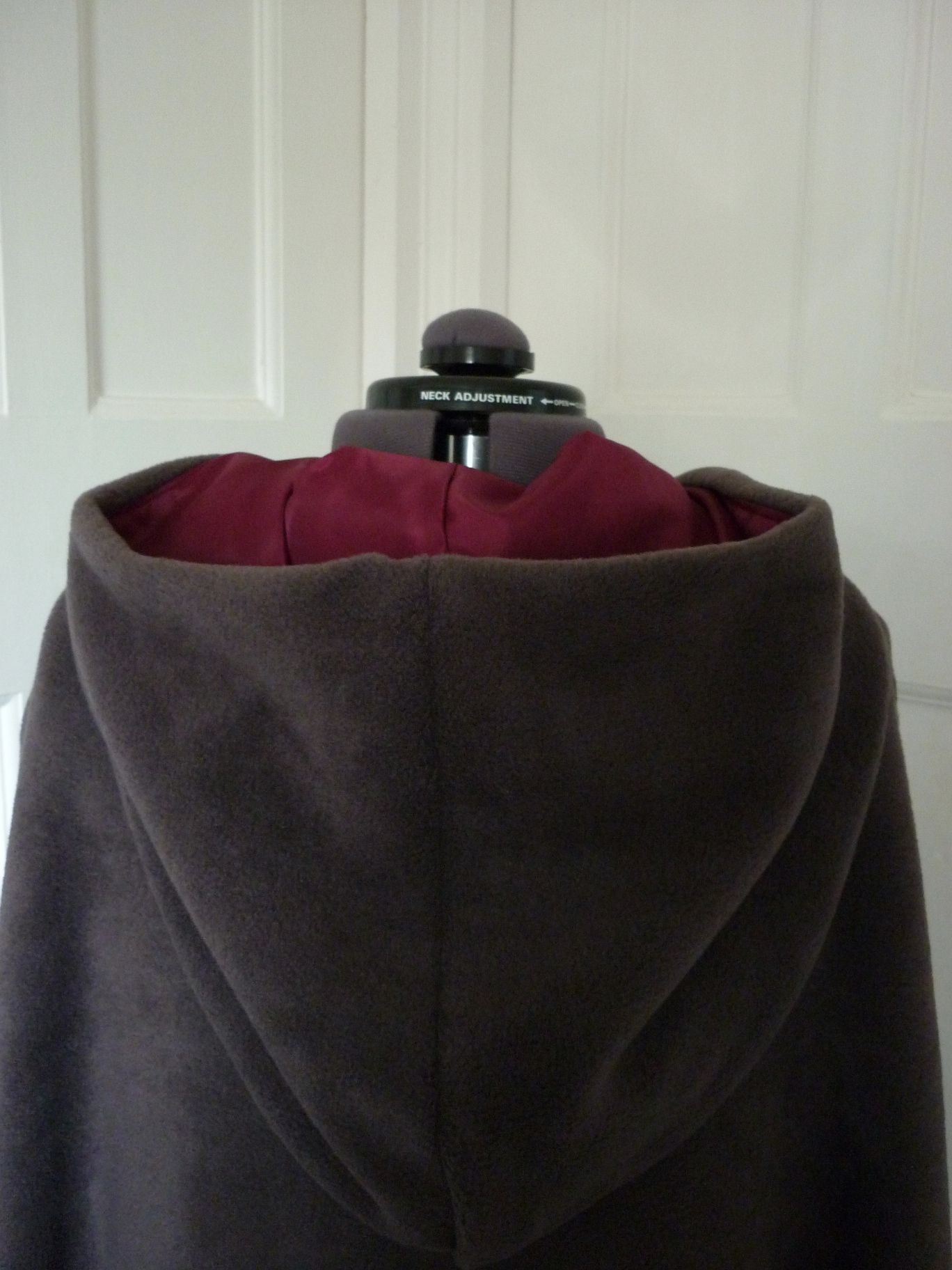 Full-length cloak with contrasting lining - round hood - choice of colours - made to order