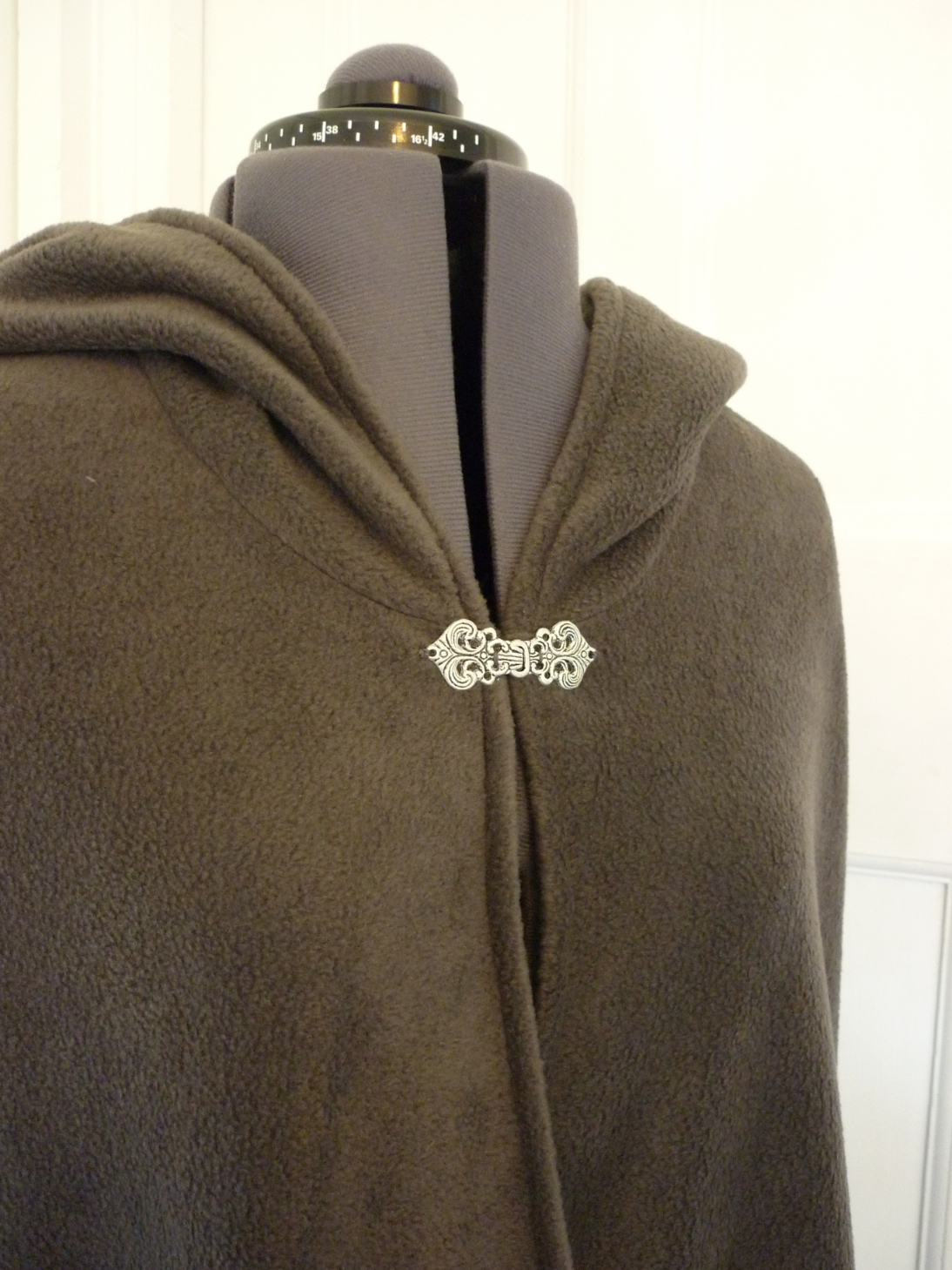 Full-length unlined fleece cloak - round hood - choice of colours - made to order