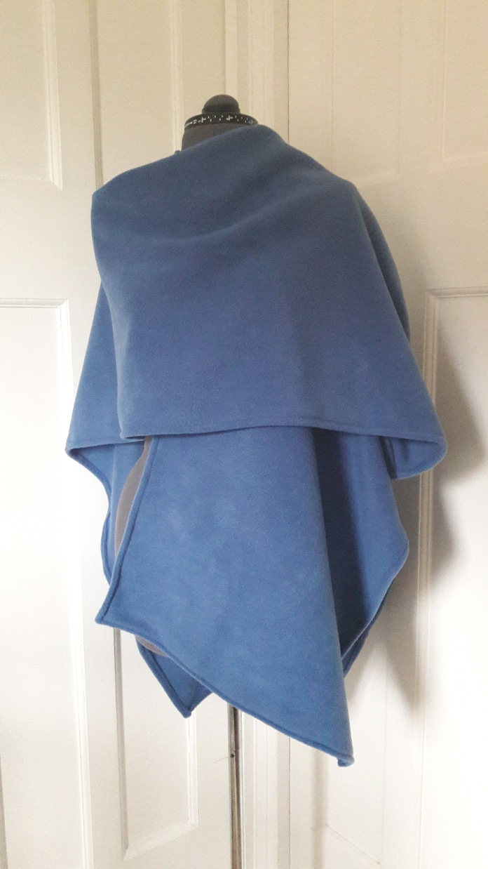 Fleece wrap - denim blue - ready to ship